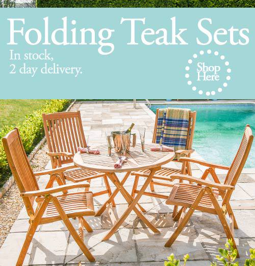Teak folding furniture sets